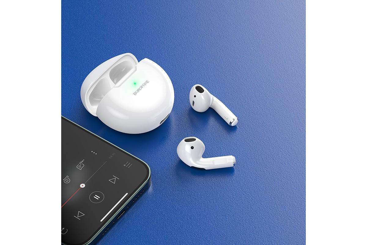 Беспроводные наушники BOROFONE BE41 Felice TWS wireless BT headset цвет белая