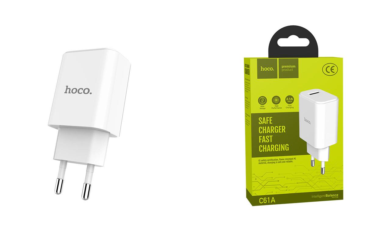 Сетевое зарядное устройство  USB 2400mAh  HOCO C61A Victoria single port charger белый