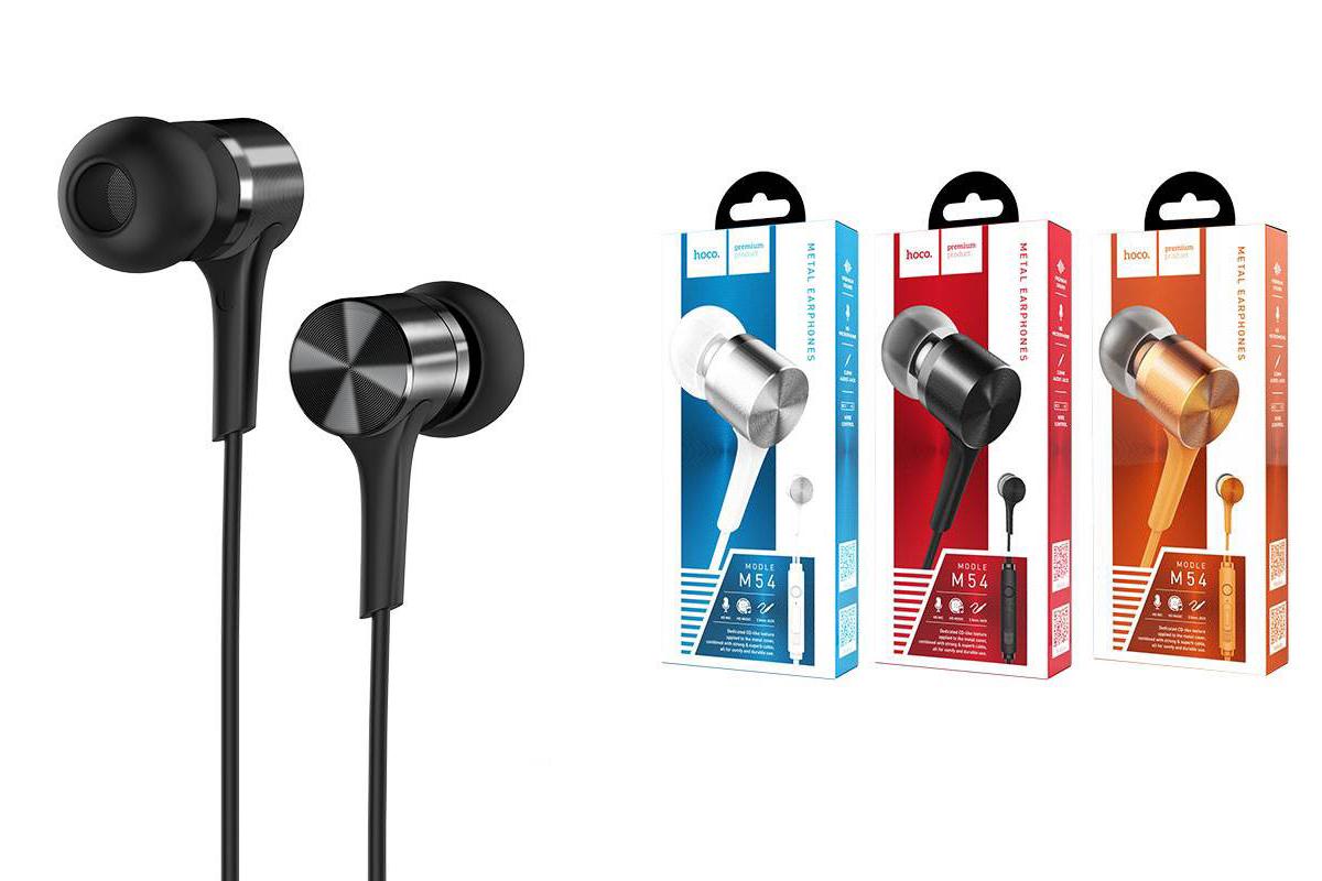 Гарнитура HOCO M54 Pure music wired earphones with micl 3.5мм черная
