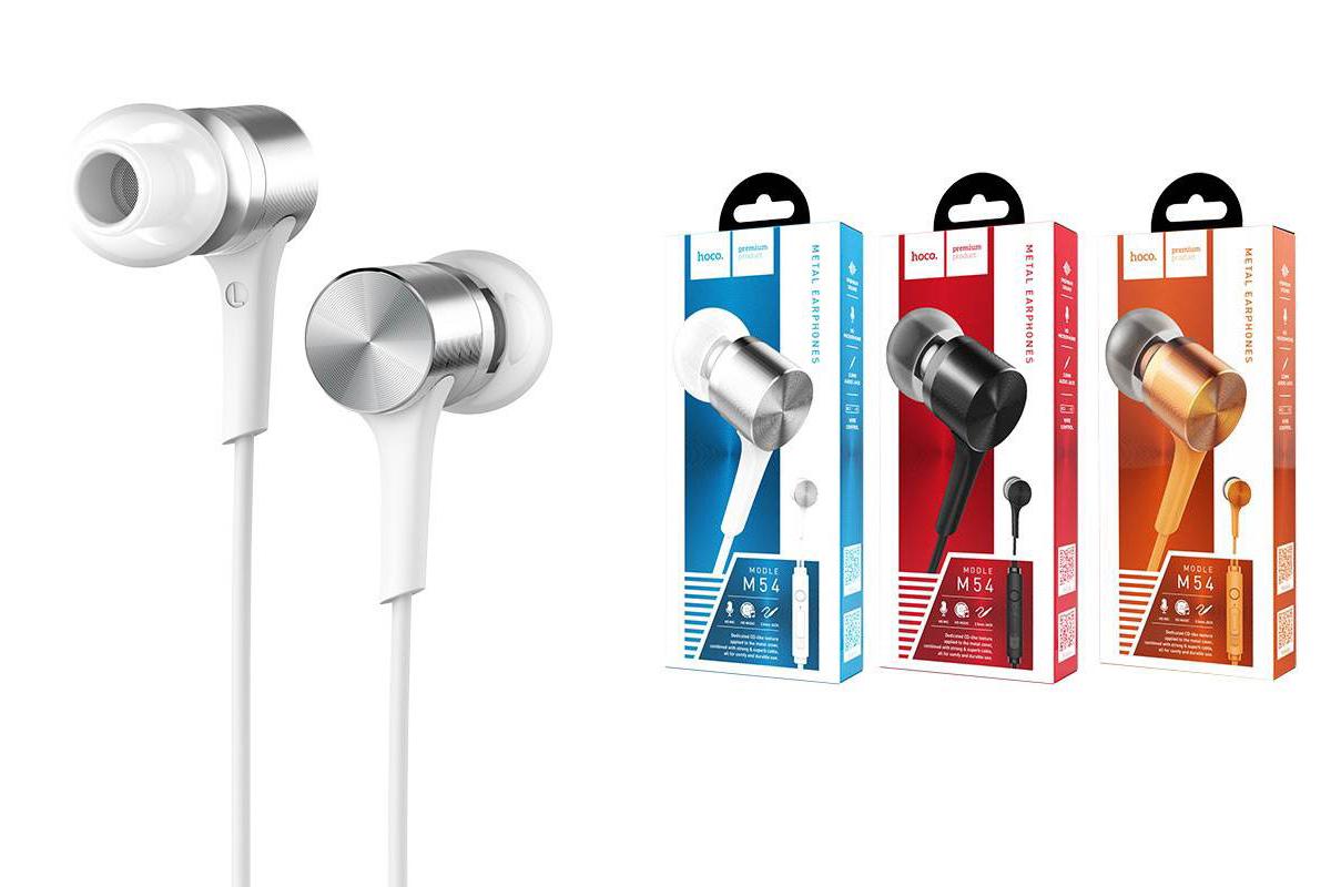 Гарнитура HOCO M54 Pure music wired earphones with micl 3.5мм белая