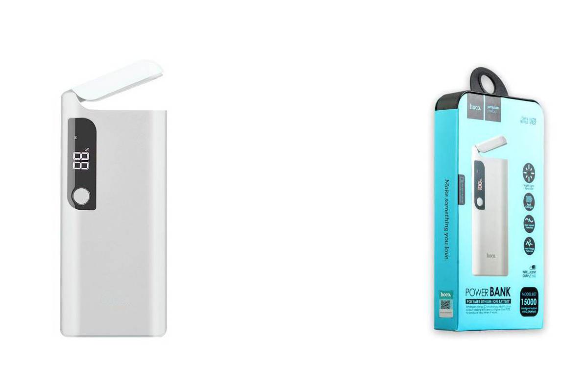 Универсальный дополнительный аккумулятор HOCO B27 Pusi  15000 mAh белый