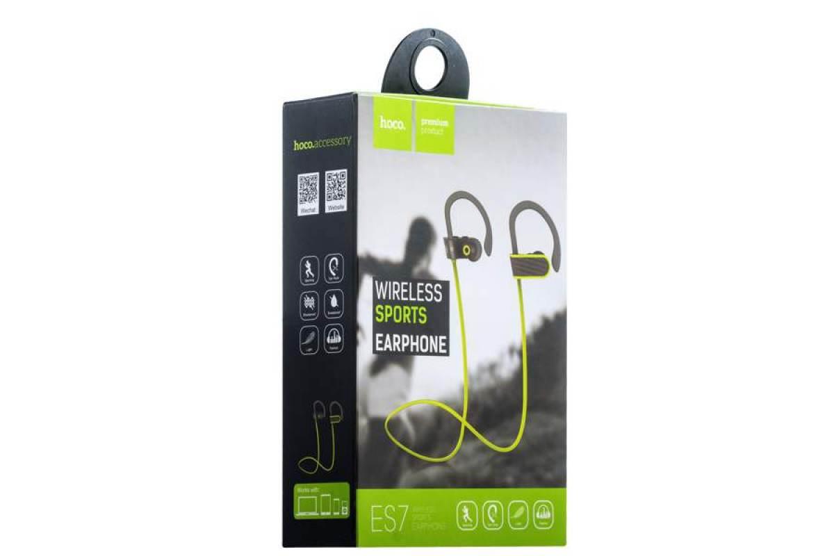 Bluetooth-гарнитура ES7 Stroke & embracing sporting HOCO серая