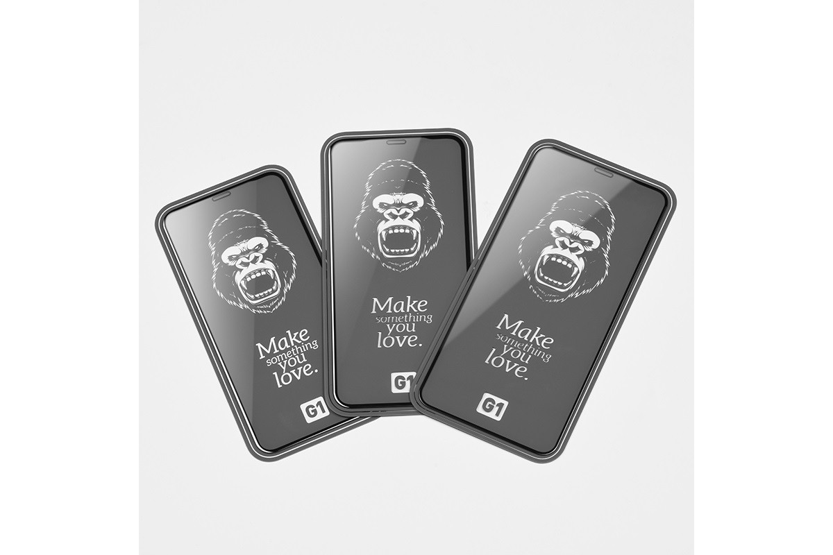 Защитное стекло дисплея iPhone XS Max/11 Pro Max (6.5)  HOCO Flash attach Full Screen HD tempered glass  черное