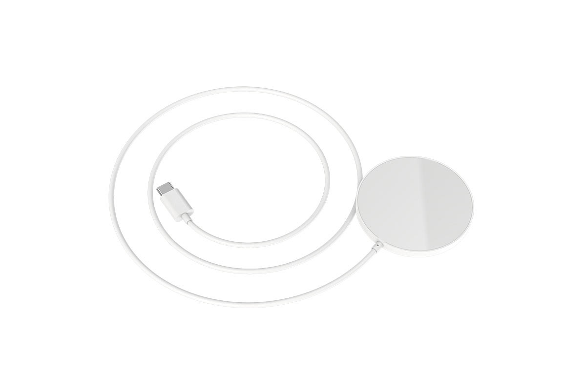 Настольная беспроводная зарядная станция HOCO CW28 Original series magn. wireless fast charger белая