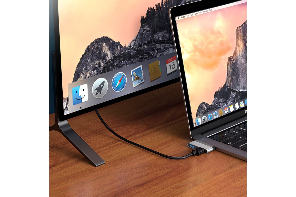 Адаптер USB Type-C (M) --> HDMI + USB3.0 BOROFONE DH2