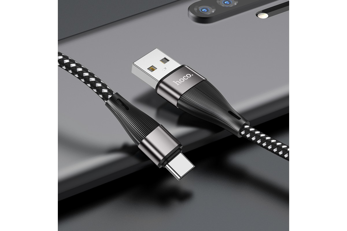 USB D.CABLE HOCO X57 Blessing charging data cable for Type-C (черный) 1 метр