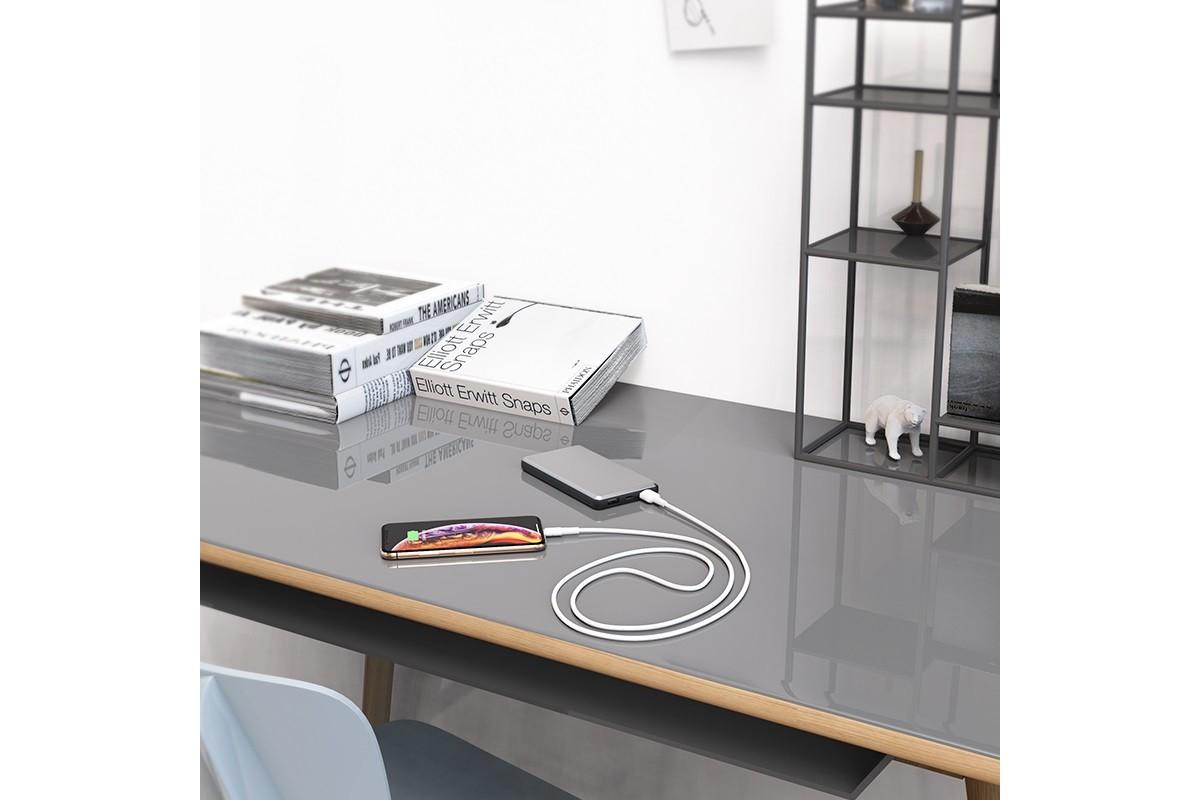 Кабель для iPhone BOROFONE BX30 Silicone charging lightning cable 1м белый