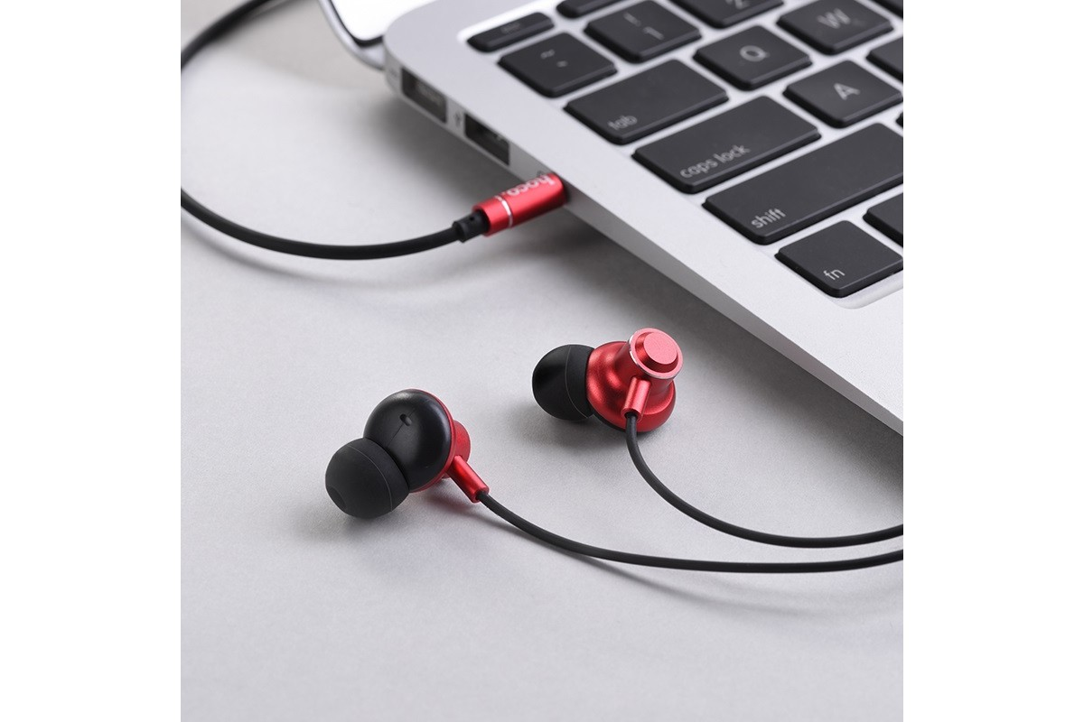 Гарнитура HOCO M44 Magic sound wired earphones with microphone  3.5мм красный