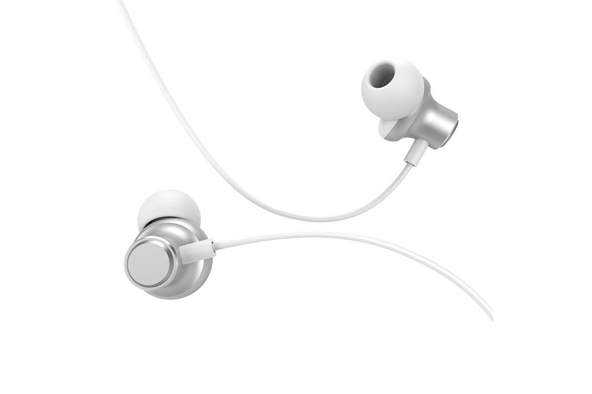 Гарнитура HOCO M44 Magic sound wired earphones with microphone  3.5мм серебристый