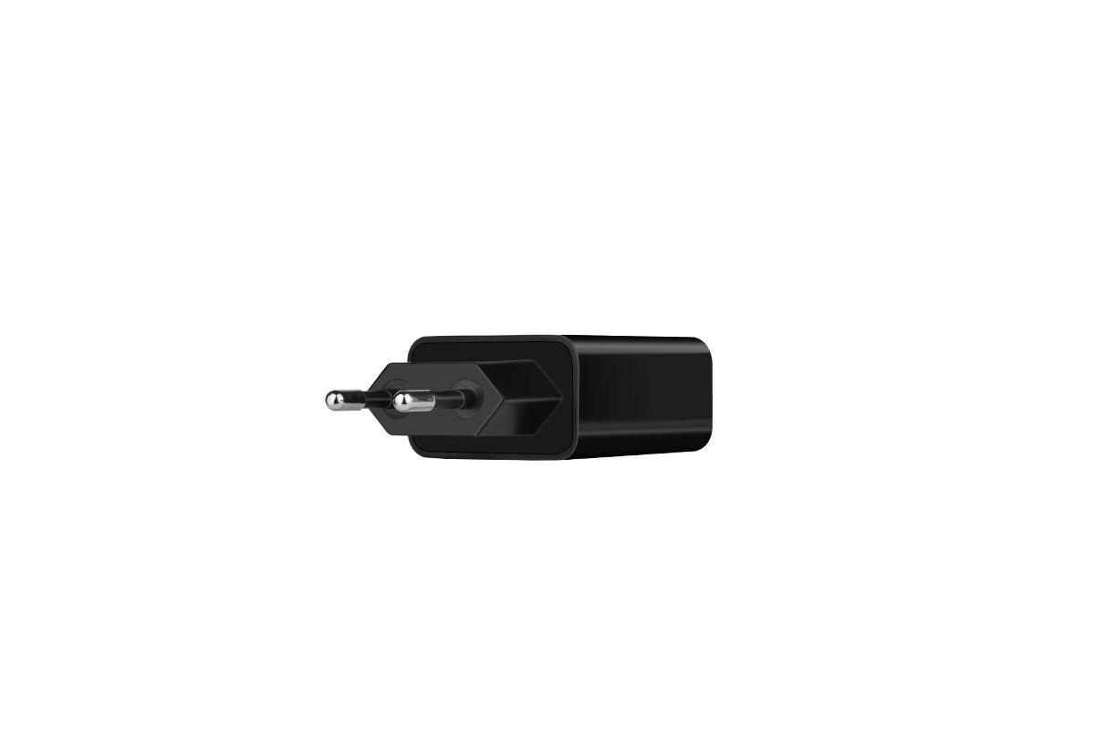 Сетевое зарядное устройство 2 USB 2400mAh  HOCO C25A Cool double port charger (индикатор заряда) черный