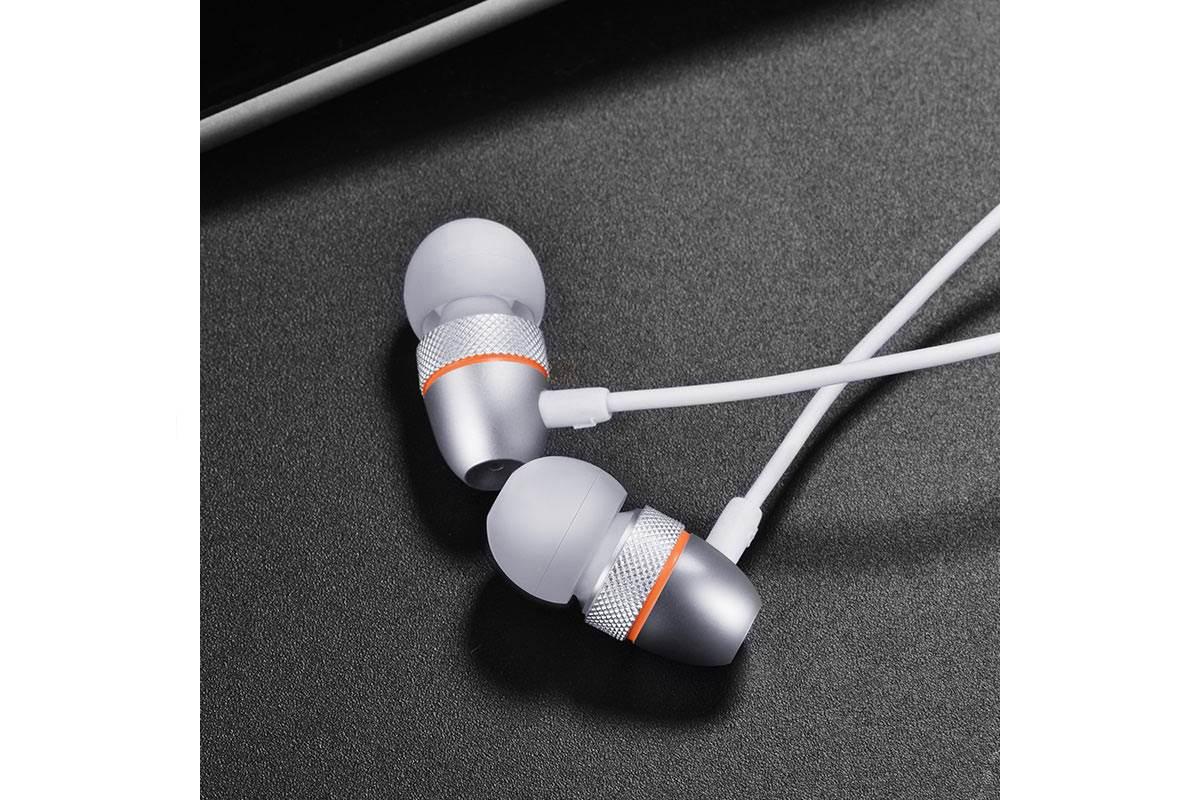 Гарнитура HOCO M59 Magnificent universal earphones серебристая