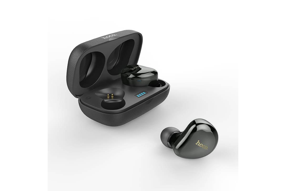 Bluetooth-гарнитура ES25 Easy talk wireless headset HOCO серая