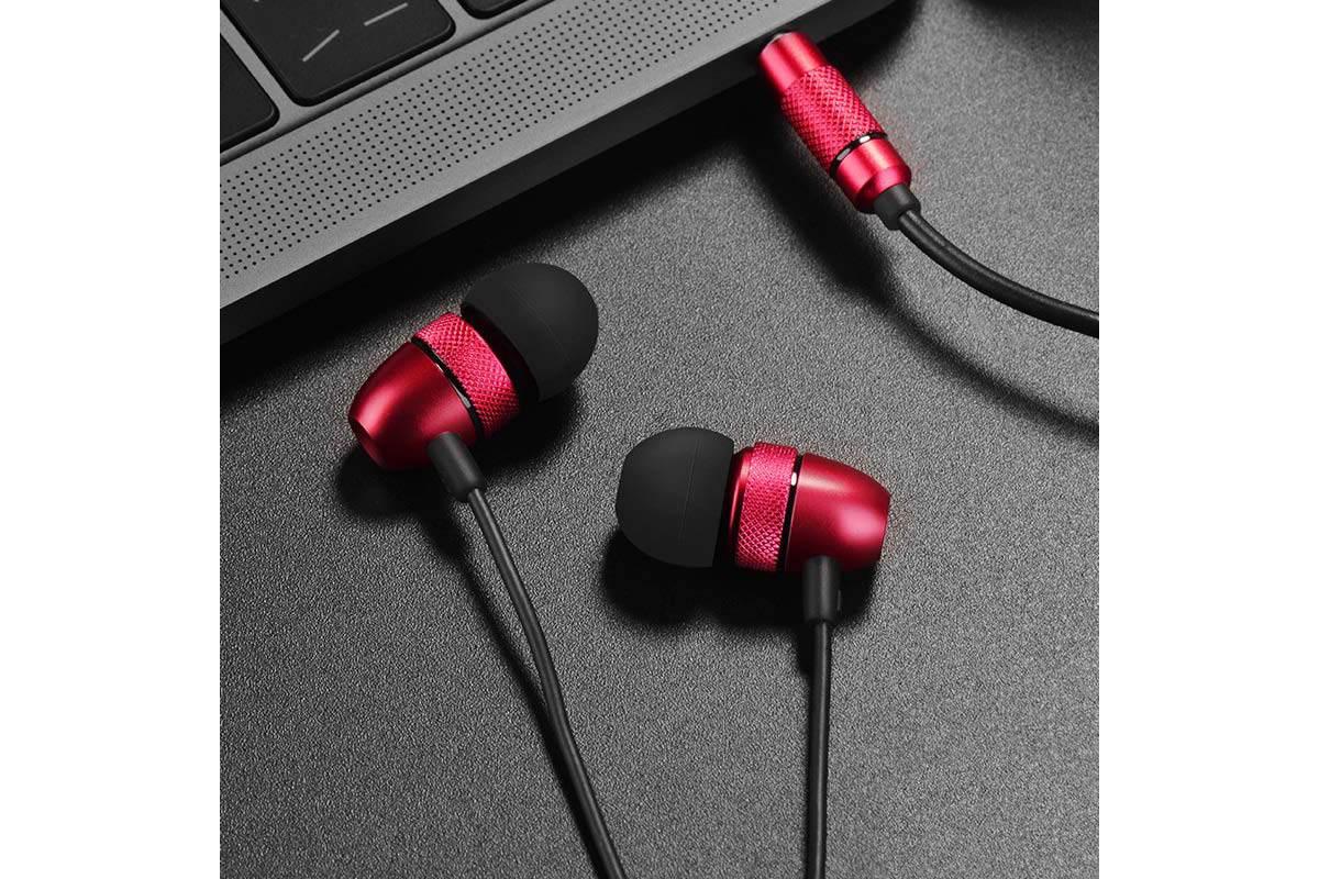 Гарнитура HOCO M59 Magnificent universal earphones красная