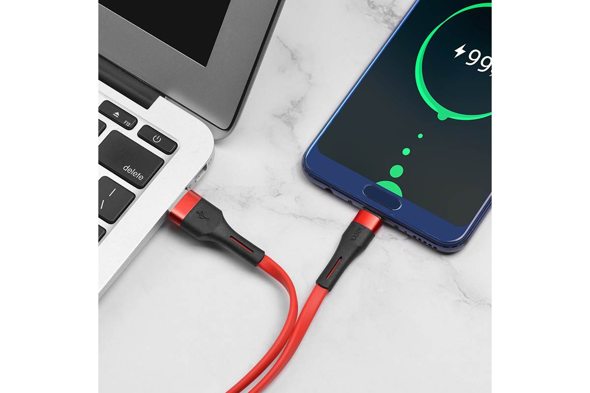 Кабель USB HOCO X34 Surpass charging data cable for Type-C (красный) 1 метр