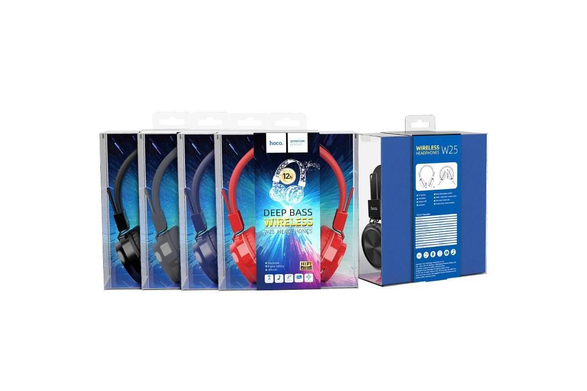 Беспроводные внешние наушники HOCO W25 Promise wireless headphones черный