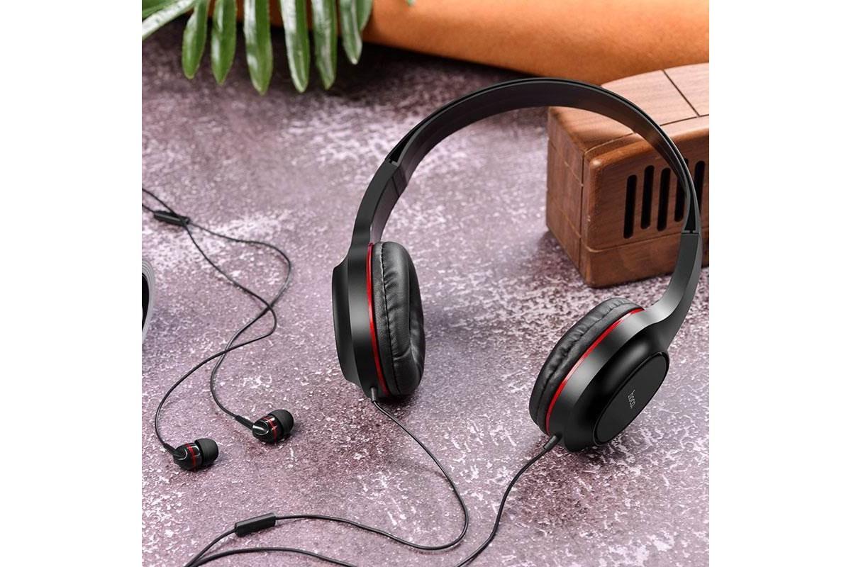 Беспроводные внешние наушники HOCO W24 Enlighten wireless headphones красный