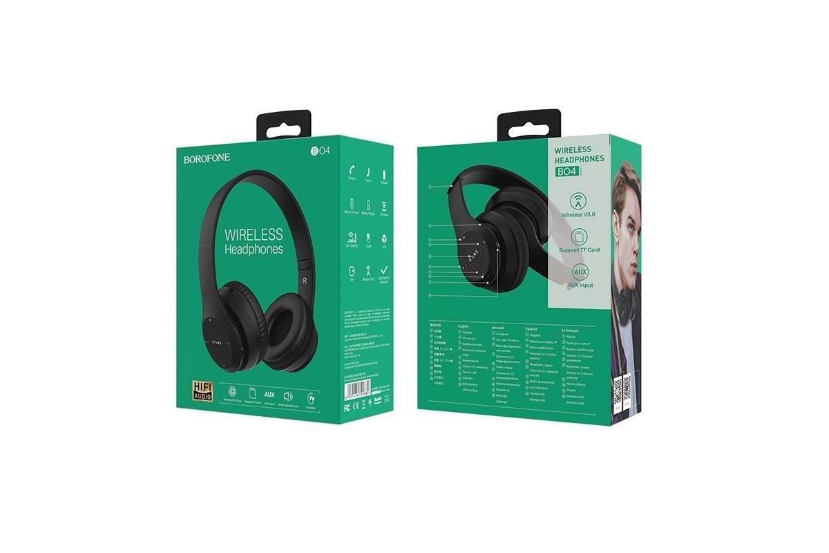 Беспроводные внешние наушники BO4 BOROFONE Charming wireless headset черный