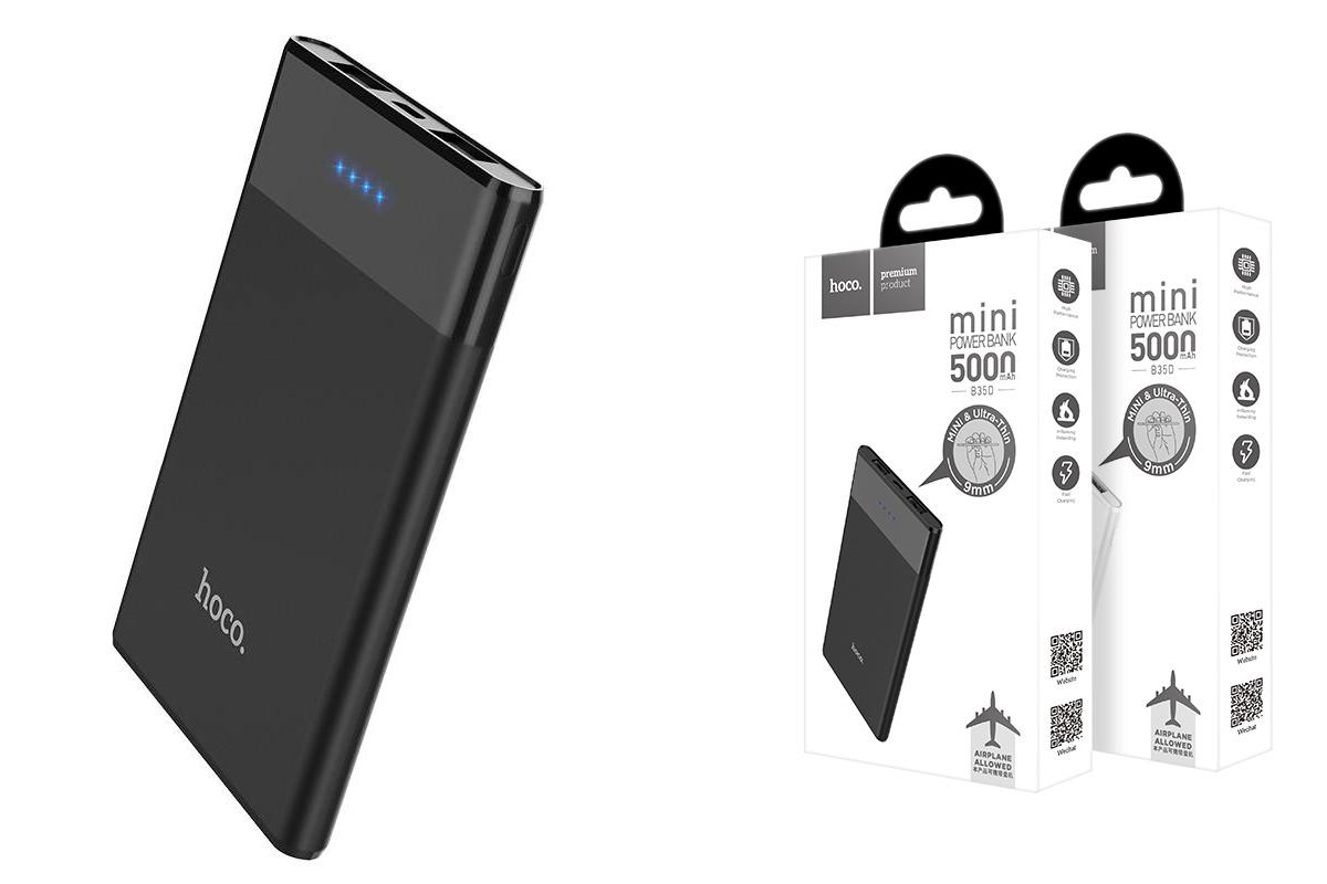 Универсальный дополнительный аккумулятор HOCO B35 A 5200 mAh Entourage mobile power bank черный