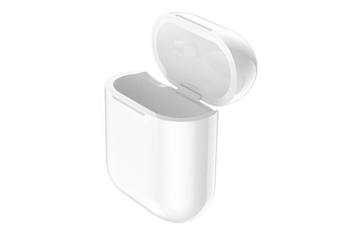 Зарядный бокс для наушников AirPods CW18 Wireless charging protective box HOCO белый
