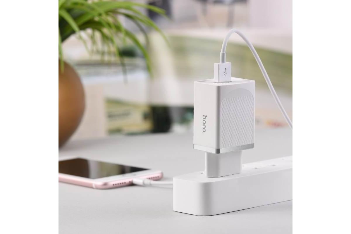 Сетевое зарядное устройство USB 2400mAh  HOCO C42A Vast power QC3.0 single port charger белый