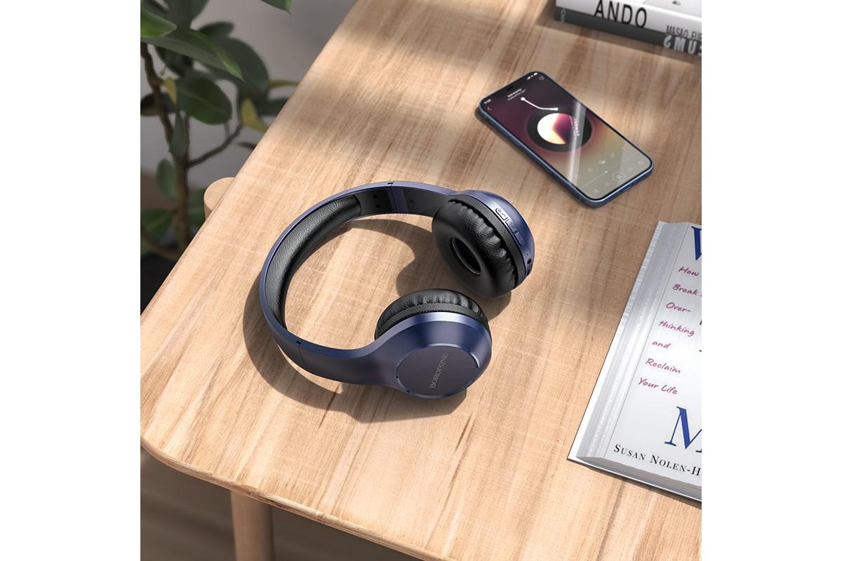 Беспроводные внешние наушники BO12 BOROFONE Power BT wireless headset черный