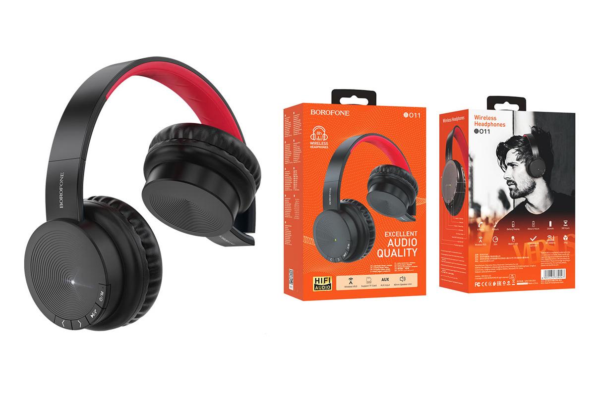 Беспроводные внешние наушники BO11 BOROFONE Maily BT wireless headset черный