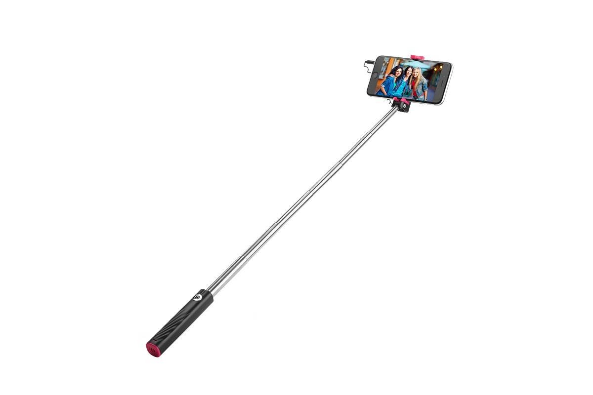 Штатив-монопод- для селфи HOCO K7 Dainty mini wired selfie stick HOCO черный (для айфон)