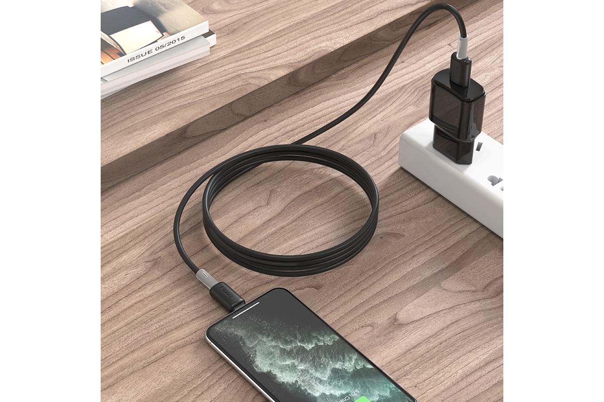 Кабель для iPhone HOCO X48 Soft silicone charging data cable for Lightning 1м черный