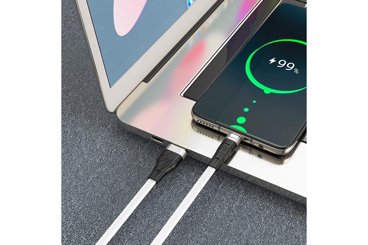 Кабель USB HOCO X53 Angel silicone charging cable for Type-C (белый) 1 метр