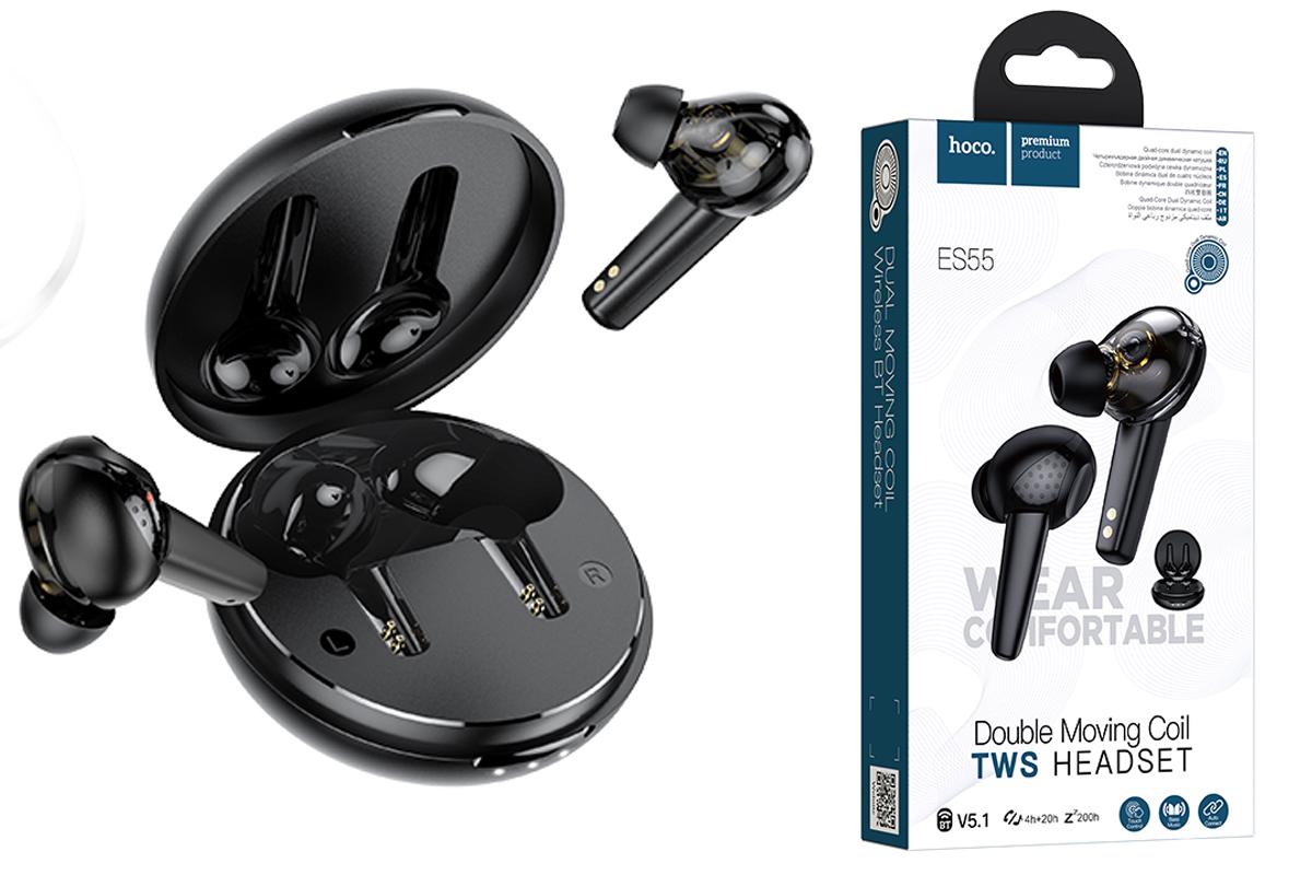 Bluetooth-наушники ES55 Songful TWS wiereless headset HOCO черная