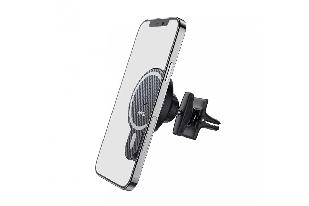 Держатель авто HOCO CA85 Ultra fastmagnetic wireless charging car holder черный