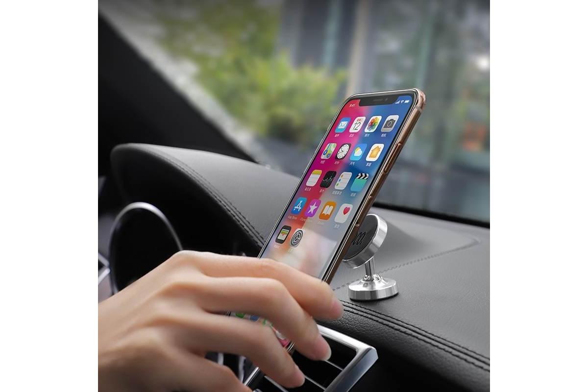 Держатель авто HOCO CA36 Plus Dashboard metal magnetic in-car holder черный