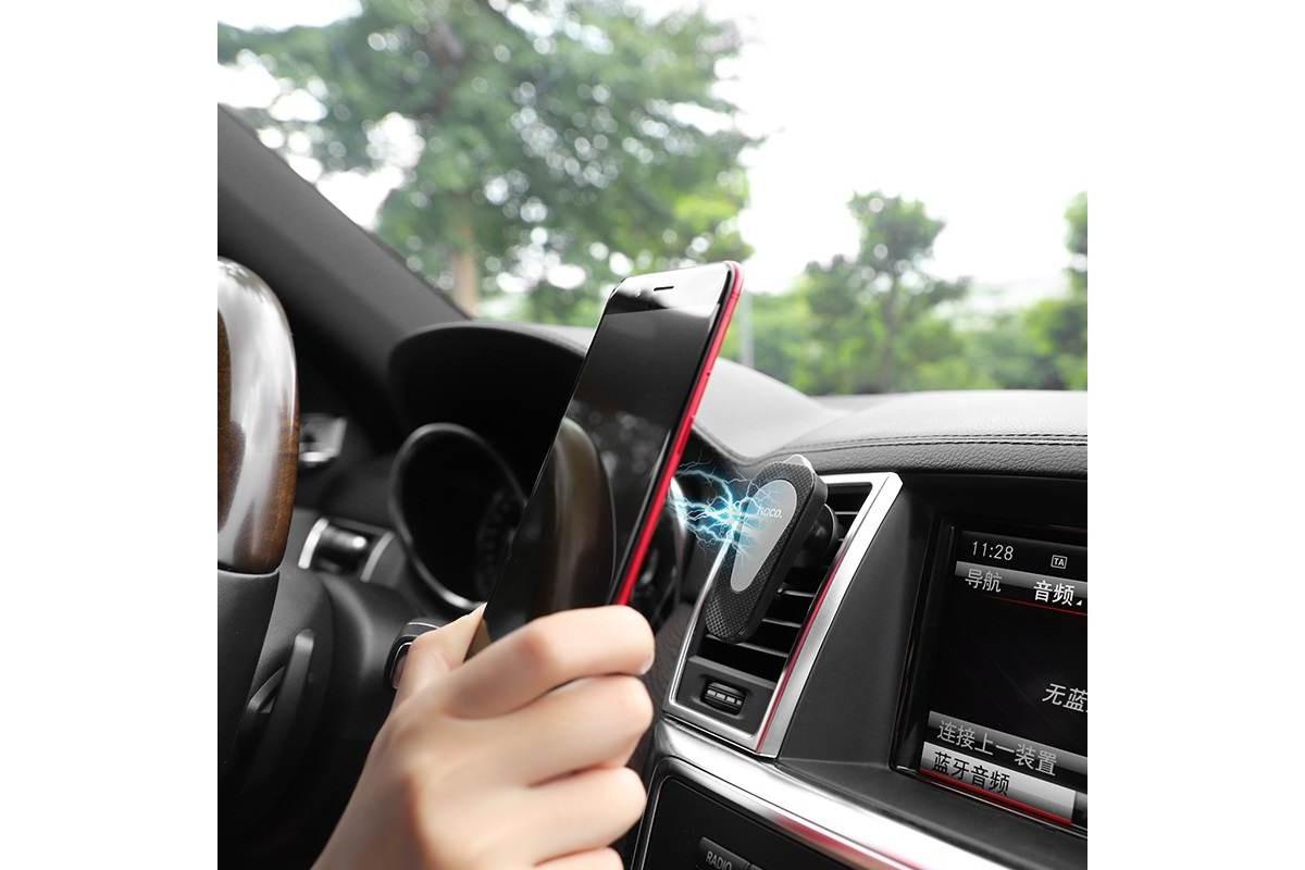 Держатель авто HOCO CA37 Air outlet multi-function magnetic in-car holder белый