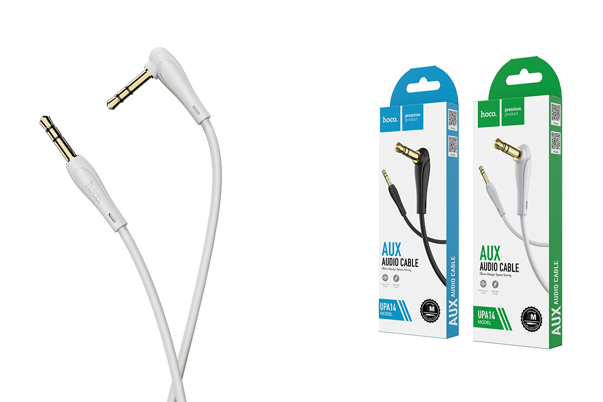 Кабель удлинитель HOCO UPA14 AUX audio cable 3.5 1 метр серый