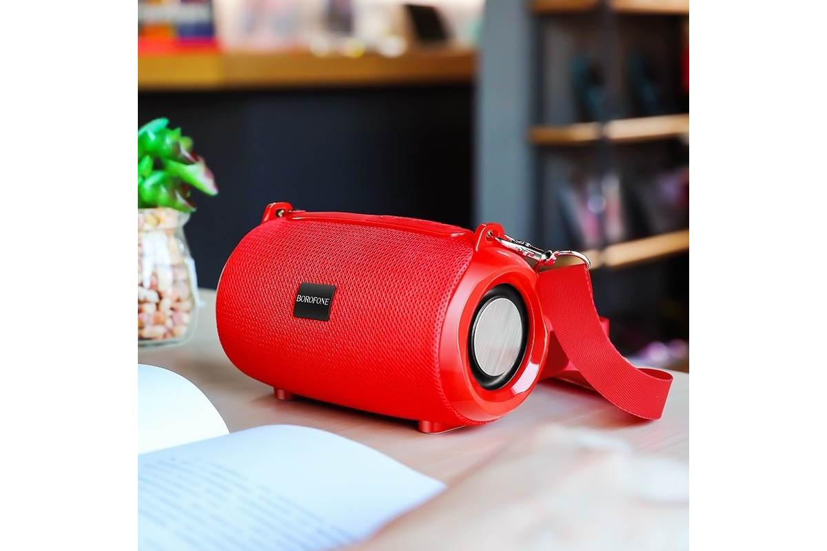 Портативная беспроводная акустика BOROFONE BR4 Horizon sport  цвет красный