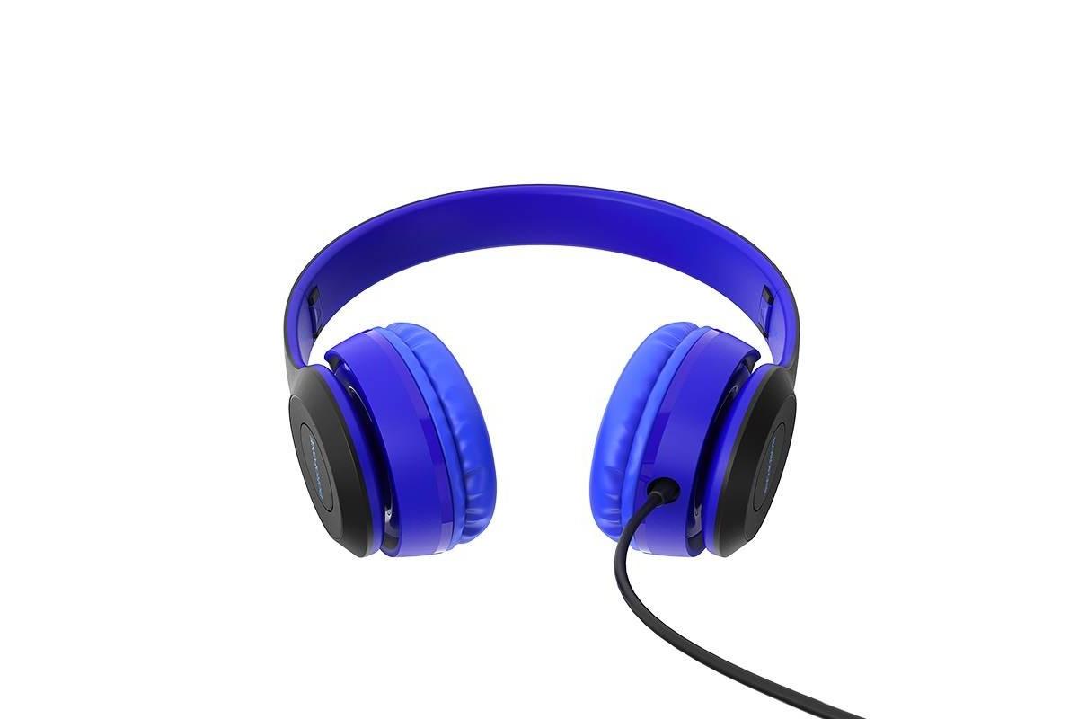 Внешние наушники/гарнитура  BO5 BOROFONE Star sound wired headphones синий