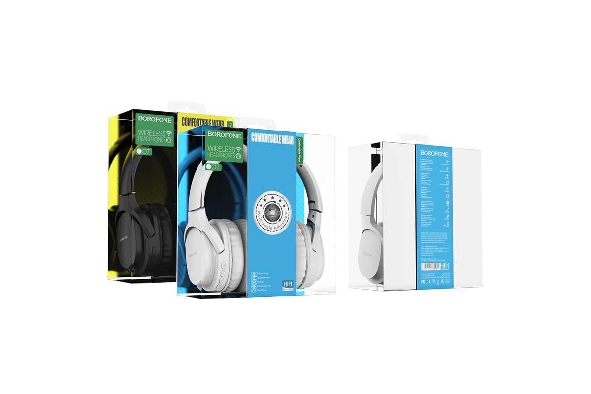 Беспроводные внешние наушники BO7 BOROFONE Broad sound wireless headset белый