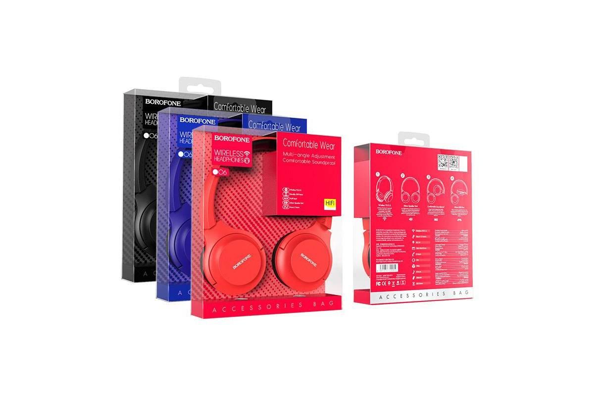Беспроводные внешние наушники BO8 BOROFONE Poise rhyme wireless headset красный