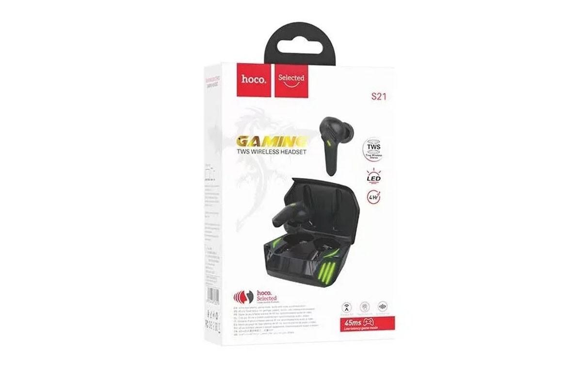 Беспроводные наушники S21 Magic shadow wireless BT gaming headset HOCO черная