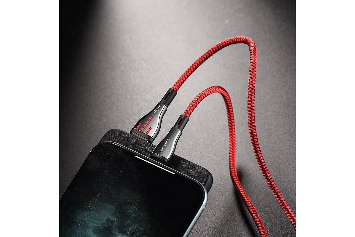 Кабель для iPhone BOROFONE BU23 Highway charging data cable for Lightning 1м красный
