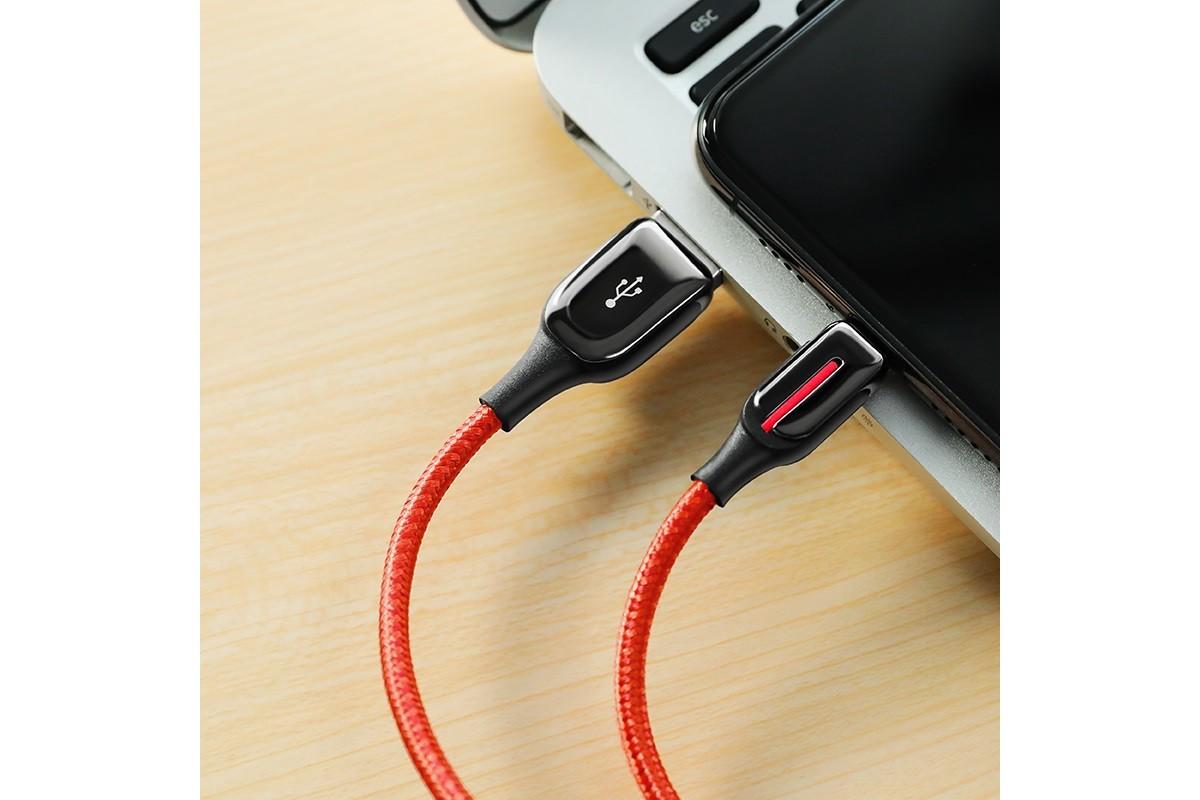 Кабель для iPhone BOROFONE BU14 Heroic charging data cable for Lightning 1м красный