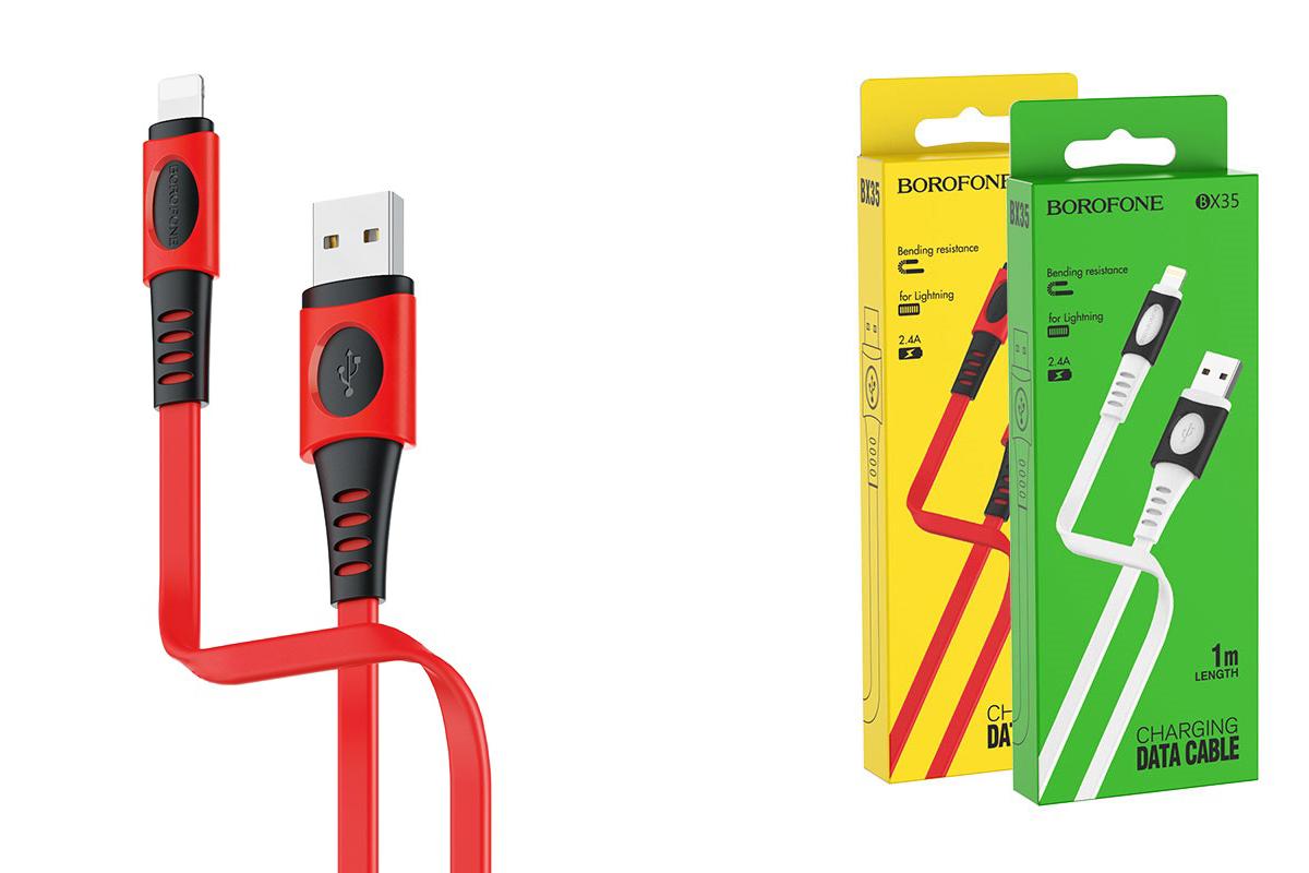 Кабель для iPhone BOROFONE BX35 Carib charging data cable for Lightning 1м красный