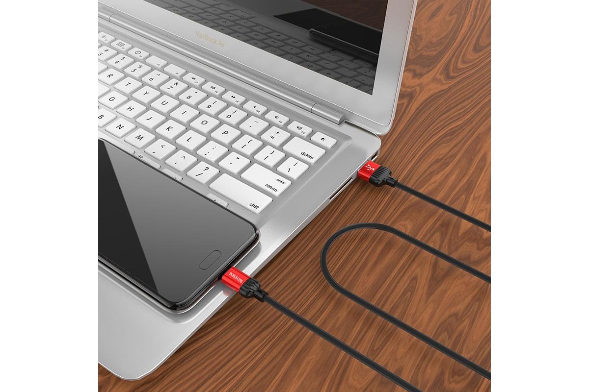 Кабель USB BOROFONE BOROFONE BX28 Dignity charging data cable for Type-C (красный) 1 метр