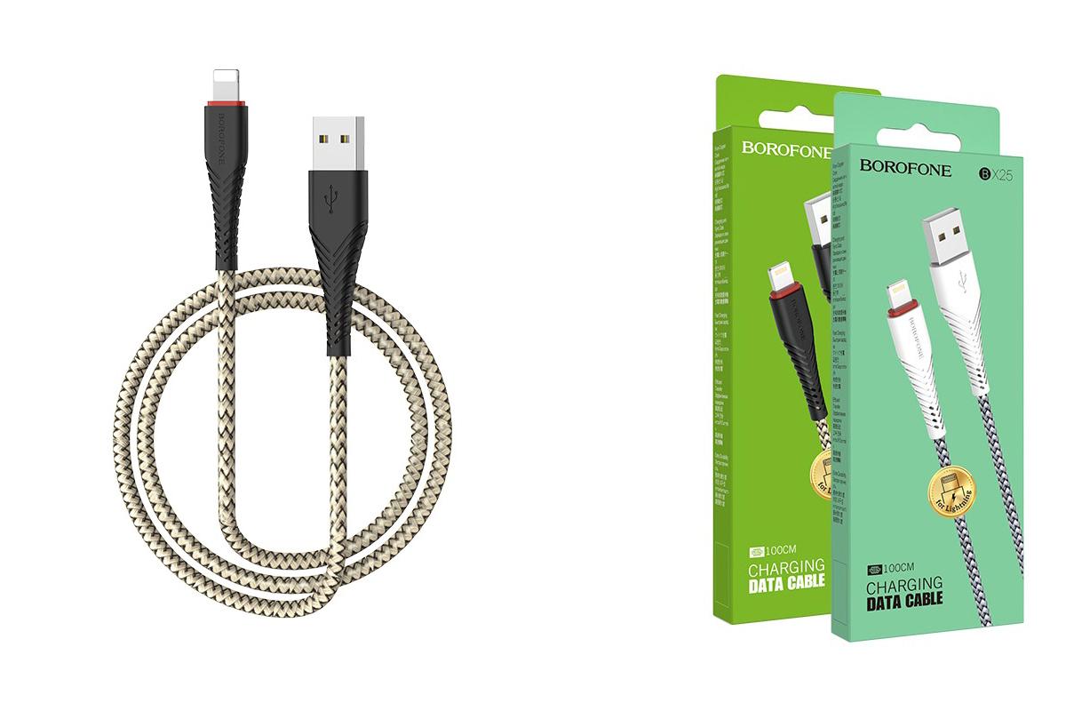 Кабель для iPhone BOROFONE BX25 Powerful charging data cable for Lightning 1м черный