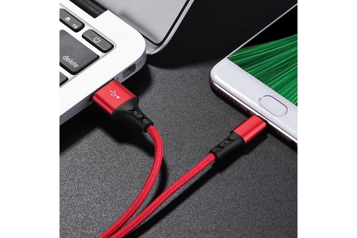 Кабель USB micro USB BOROFONE BX20 Enjoy charging data cable (красный) 1 метр