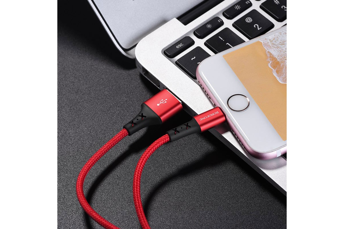 Кабель для iPhone BOROFONE BX20 Enjoy charging data cable for Lightning 1м красный