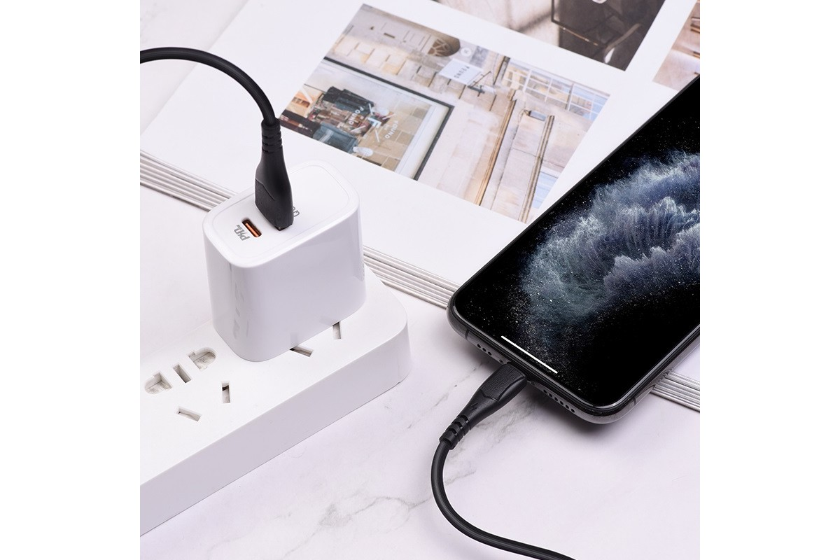 Кабель для iPhone BOROFONE BX37 Wieldy charging data cable for Lightning 1м черный