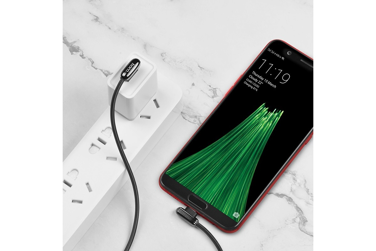 Кабель USB micro USB HOCO U60 Soul secret charging data cable (серый) 1 метр