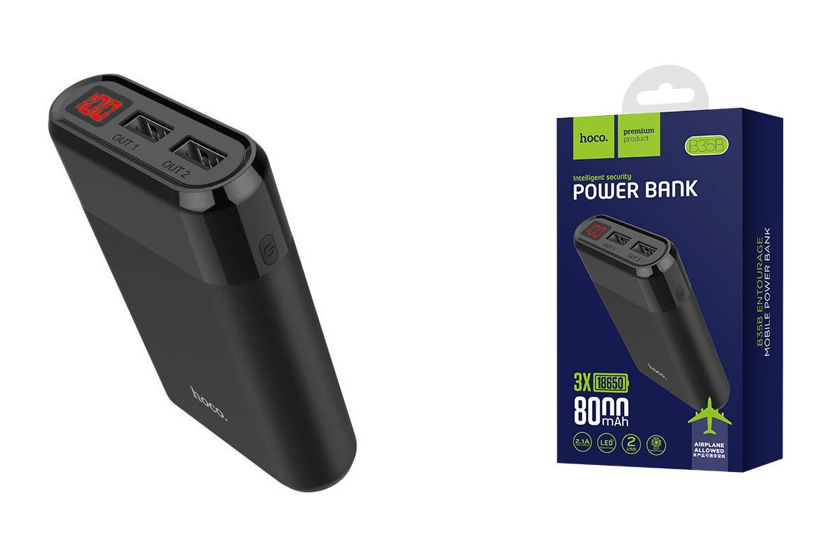 Универсальный дополнительный аккумулятор HOCO B35 B 8000 mAh черный