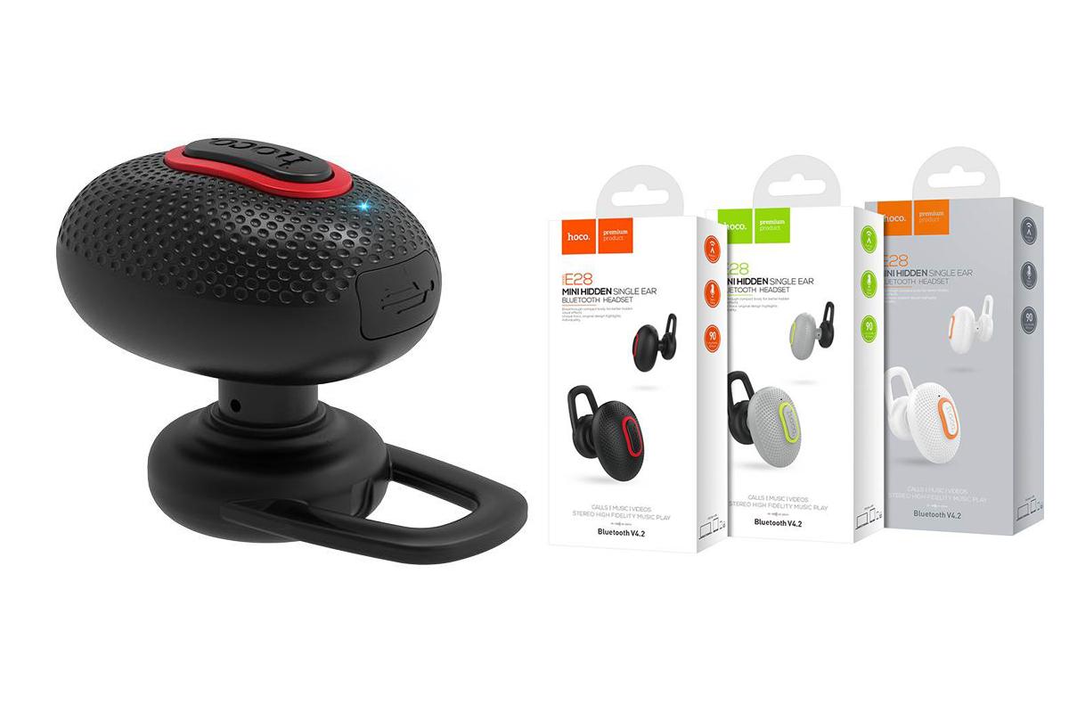 Bluetooth-гарнитура E28 Cool road HOCO черная